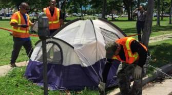 dismantling encampment